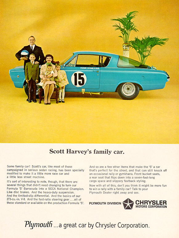 1966 Plymouth Barracuda Factory Advertisement