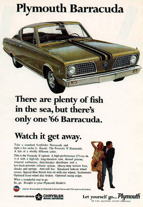 1966 Plymouth Factory Advertisement