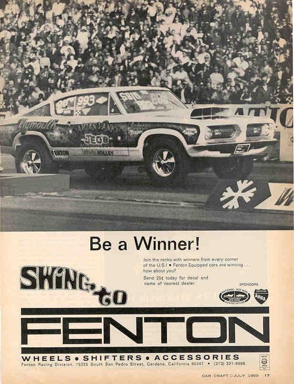 1969 Plymouth Barracuda Advertisement