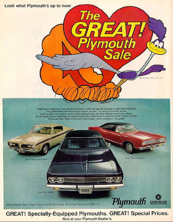 1969 Plymouth Factory Advertisement