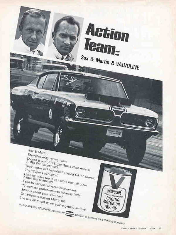 1969 Plymouth Barracuda Advertisement